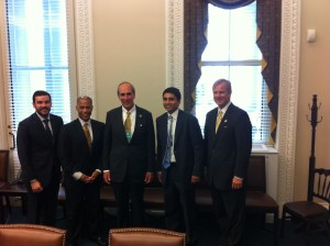 Sandy Stimpson with Rohan Patel Meeting in White House
