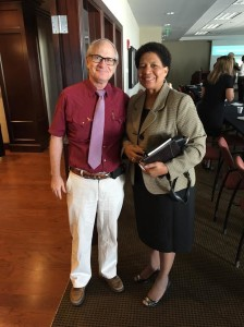 Mayor Brett Dungan and Rep. Adline Clarke